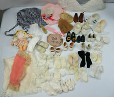 Huge Lot of Vintage Doll's Shoes Hats socks And Accessories