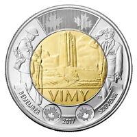 2017 CANADA $2 DOLLAR VIMY RIDGE BRILLIANT UNCIRCULATED TOONIE COIN