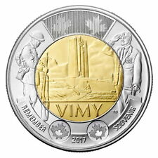 2017 CANADA $2 DOLLAR VIMY RIDGE BRILLIANT UNCIRCULATED TOONIE COIN