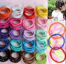 100Pcs/Lot Fashion Cute Girl Elastic Hair Bands Ponytail Holder Head Rope Ties