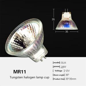 2 pcs G4 pin MR11 halogen bulb ceiling lamp spotlight 12V halogen lamp cup