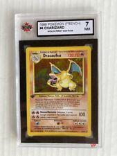1999 CHARIZARD Pokemon Holo 1st. Edition Card #4 FRENCH KSA 7 Near Mint RARE