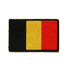 Belgium Flag Patch Black Border Flag Embroidered FAST USA SHIPPING