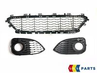 NEW GENUINE BMW 1 F20 F21 LCI 15-17 FRONT M SPORT BUMPER LOWER GRILL SET KIT