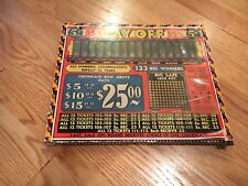 Vintage Pay Off Punch Board