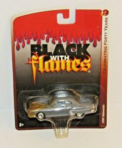 Johnny Lightning Grey w/ Gold Flames 1950 Oldsmobile 1:64 Scale NISP