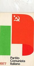 TESSERA   P.C.I.   PARTITO  COMUNISTA  ITALIANO 1977   CON  BOLLINI