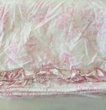 California Kids Toile DUVET COVER & RUFFLE SHAM~French Country~Pinks~Cotton~USA