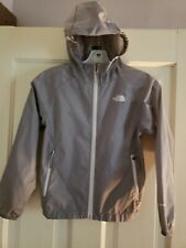 The North Face Gray Girls Hooded Windbreaker Size 7/8