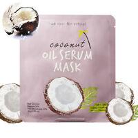 Too cool For School 1/2/4/8EA Coconut Oil Serum Sheet Mask Pack skincare kbeauty