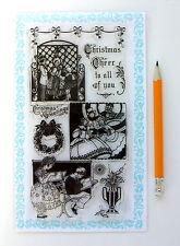"Clear Stamps Lot (4""x7"") Christmas Psalms Santa FLONZ Vintage 281 Rubber Acrylic"