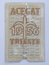 TRAM TRANVIE BUS abbonamento tessera Acegat Trieste 1956 Autofilotranvie 29