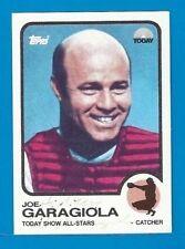 JOE GARAGIOLA AUTOGRAPHED NBC TODAY SHOW CARD  HOF 1973 STYLE CARD-RARE!