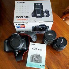 Boitier Canon EOS 500D + objectifs 18-55mm + 24-85mm ultrasonic