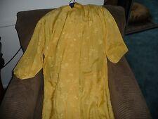#714 vtg womens bathrobe YELLOW ASIAN style L 40-42 rayon  Leisure Fashion