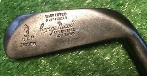 Vintage Antique Wood Shaft  George NICOLL Levin Fife Scotland  NAP JIGGER iron