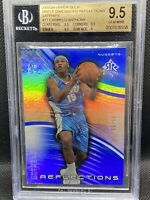 2003-04 Carmelo Anthony Upperdeck Triple Dimension Saphire Refractor RC 9/10 1/1
