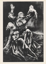LEA GRUNDIG - WAR CRIMINALS * EAST GERMAN SMALL ww2 ART PRINT 1975