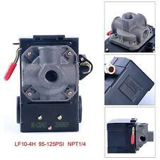 4 Port Air Compressor Pressure Switch Control Valve 95-125 PSI w/ Unloader CA