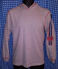 Columbus Blue Jackets Gray Reebok LS Hoodie T-Shirt - Youth Large (14/16)