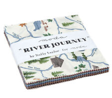 "Moda FABRIC Charm Pack ~ RIVER JOURNEY ~ by Holly Taylor  - 5"" squares"