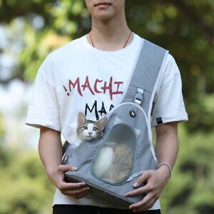 Small Dog Cat Pet Sling Carrier Bag Hands Free Comfort Travel Shoulder Front Bag