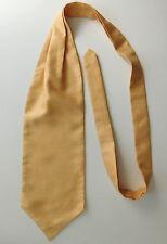 Mens cravat formal wedding dress ruche Gold colour Single wing Self tie NEW