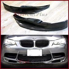 For 08-13 BMW E92 E93 M3 2DR 3D Type Carbon Fiber Front Bumper Splitter 2PCS Lip