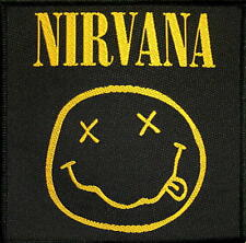 "NIRVANA PATCH / AUFNÄHER # 20 ""SMILEY"" - 10x10cm"
