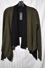 Romeo & Juliet couture cropped wrap  jacket olive black size small NWT