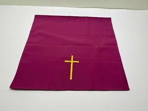 PURPLE CHALICE VEIL WITH GOLD CROSS