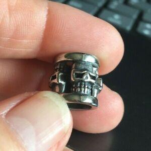 Stainless Steel Dreadlock Bead dread / hair / braid / beard bead 9mm hole dia.