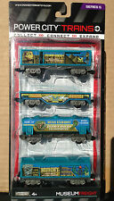 Power City Trains MUSEUM FREIGHT Set 4 Cars Series 5 New and SEALED