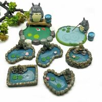 Fairy Garden Decoration Swimming Hole Stone Style Pool Pond Water Filled