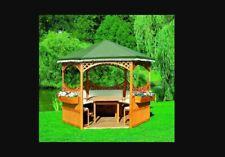 Holzpavillon Palma 1 Pavillon Überdachung Sonnenschutz L278 X B278cm Foliendach