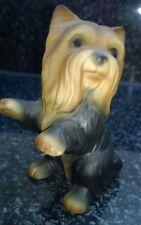 HHH Bisque Porcelain Yorkshire Terrier Figurine Ornament signed Harvey Knox