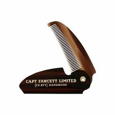 Captain Fawcett's Folding Mens Moustache Comb Hair Grooming Pocket Sized