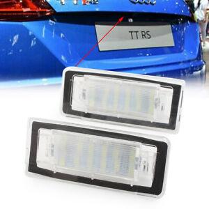 Error Free LED License Plate Light Lamp for AUDI TT Roadster Coupe 1998-06 Pair