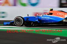 additional decals Manor MRT05 wehrlein Harianto Ocon several GP's spark f1 1/43