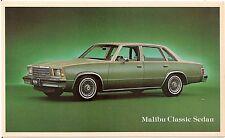 Chevrolet Malibu Classic Sedan Automobile Advertising Postcard
