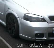 White Plastic Eyebrows to fit Vauxhall Astra G MK4 Eyelids/Light/SRI/GSI/Coupe