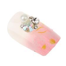 10pcs 3D Silver Nail Art Decoration Metal Jewelry Glitter Rhinestones