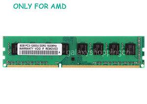 8GB 8 G DDR3 PC3-12800U 1600MHz DIMM Desktop RAM F AMD Chipset Motheboard Memory