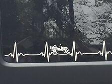 JEEP WRANGLER Heart Beat EKG  Pick Your Color STICKER Decal  Heartbeat JK TJ CJ