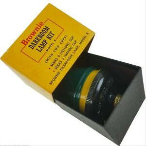 KODAK Brownie Darkroom Lamp Kit Model B Series 0 Yellow Cup Series 3 Green Cup