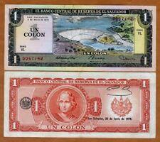 El Salvador, 1 Colone, 1979, P-125b, VF > Columbus, Pre-USD$