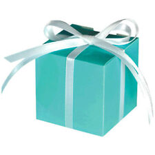 ROBIN'S EGG BLUE MINI FAVOR BOXES (100) ~ Wedding Bridal Baby Shower Supplies