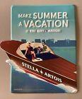 Rare Summer Stella Artois Vacation Boat Beer Metal Tin Tacker Bar Sign