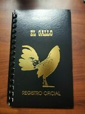Registration Registro For Poultry Chicken Duck Goose Gallos Log Book