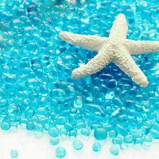 Bag of Aquarium Glass Mini Stones Fish Tank Gravel Sand Rock-Blu Decoration U3H3
